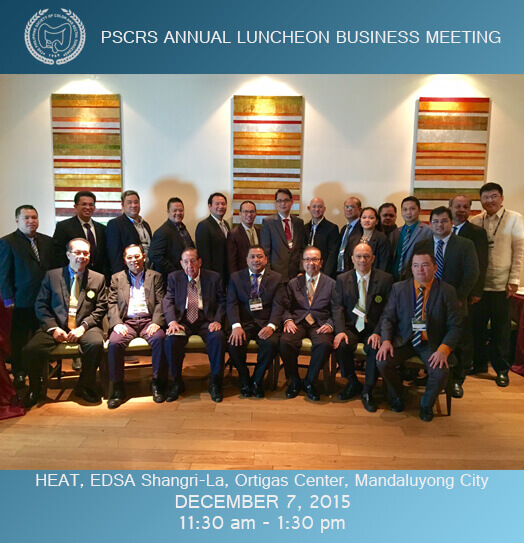 PSCRS ANNUAL LUNCHEON BUSINESS MEETING 2015