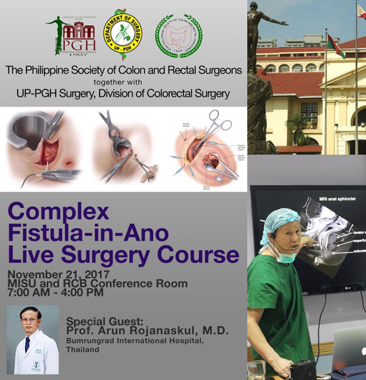 Complex Fistula-in-Ano Live Surgery Course