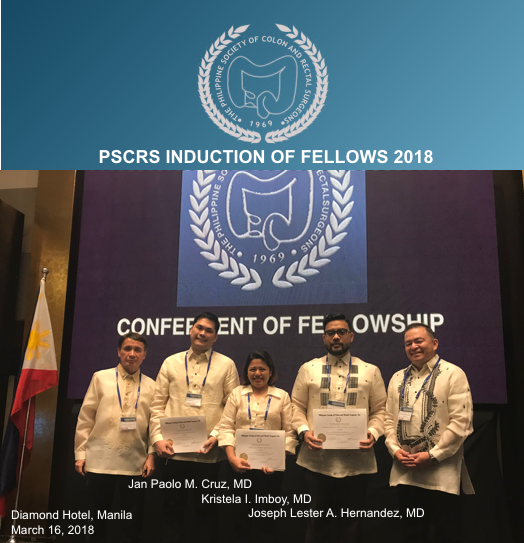 PSCRS Induction of Fellows 2018