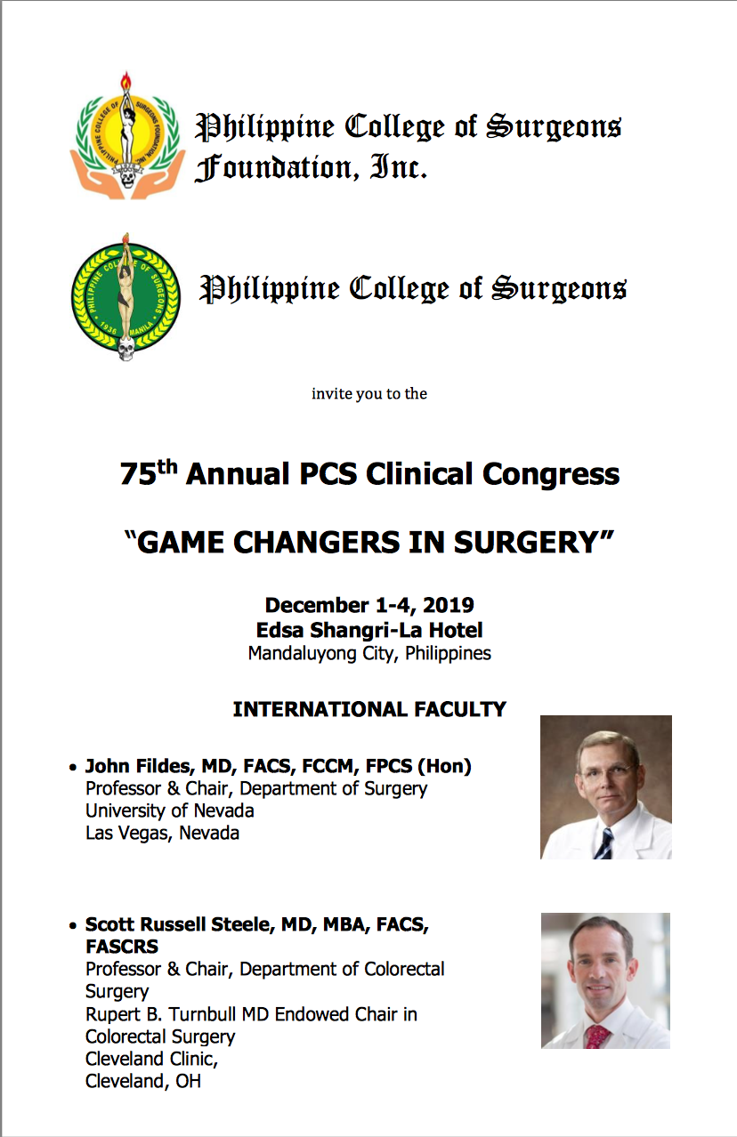 Philippine College of Surgeons Annual Clinical Congress 2019